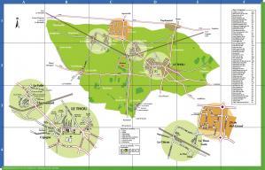 Plan de la commune du thou