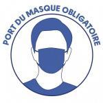 Stickers port masque obligatoire autocollant